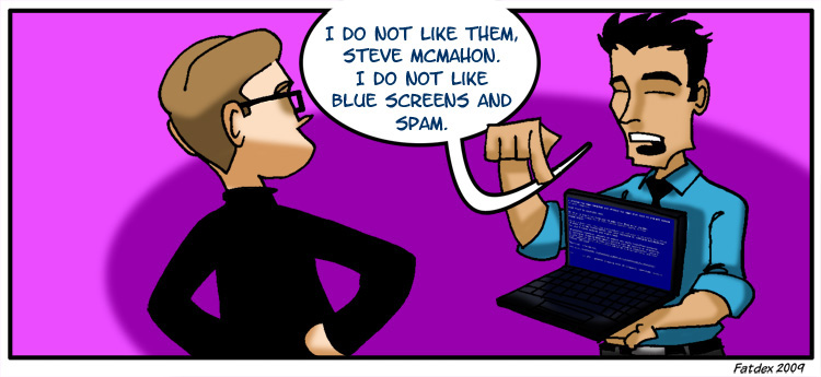 Blue Screens and Spam – Pg5